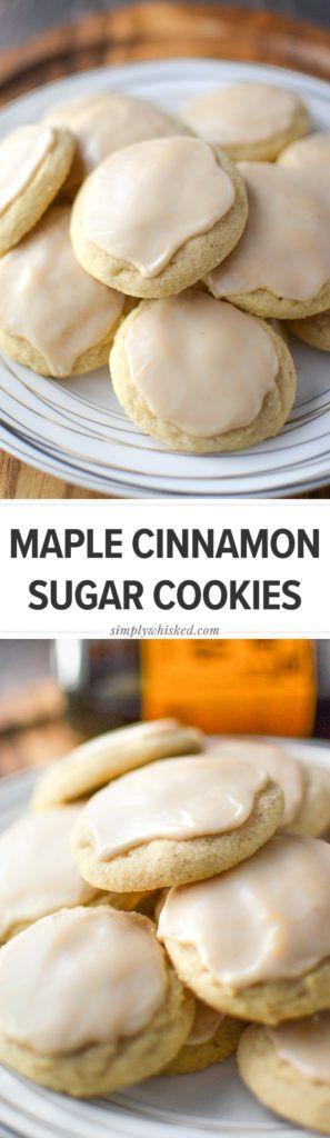 Maple Cinnamon Sugar Cookies, dairy free cookie recipe, sugar cookie recipe | #dairyfree #christmascookie @simplywhisked