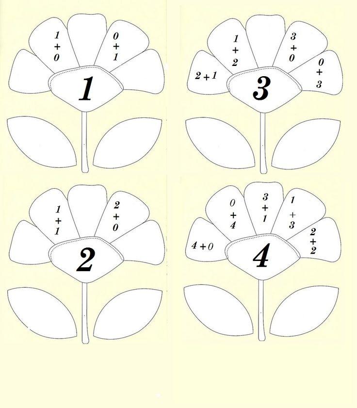 Състав на числата:1, 2, 3, 4