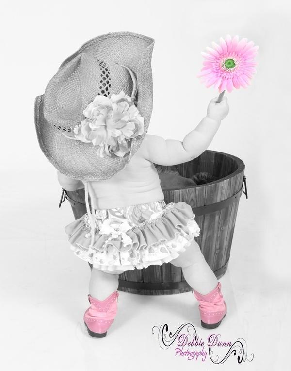 Cute little cowgirl.