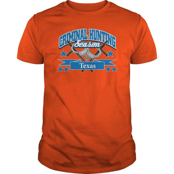 Texas Criminal Hunting Season Handcuffs Police Officer Tshirt - Texas Criminal Hunting Season Handcuffs Police Officer Tshirt (Police Officer Tshirts)