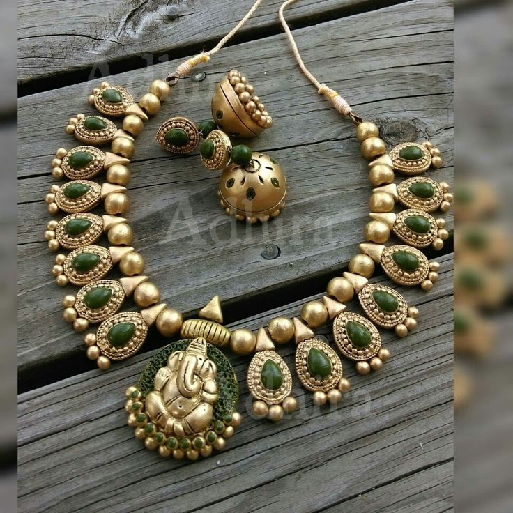 219 best Ganesha in jewellery images on Pinterest India jewelry
