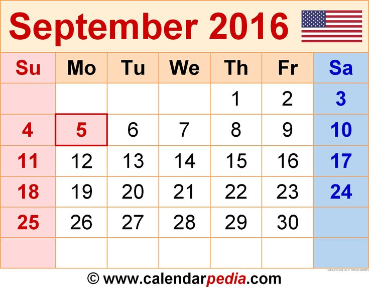 73 best September 2016 Calendar images on Pinterest Printable - event calendar templates