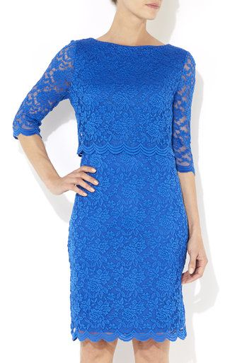 Blue Over Layer Lace Dress #MyChristmasStory