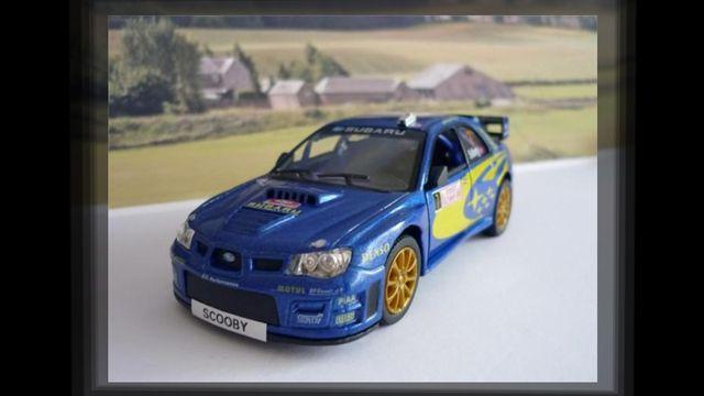Animoto - PERSONALISED PLATES Blue Subaru Toy/Model Car