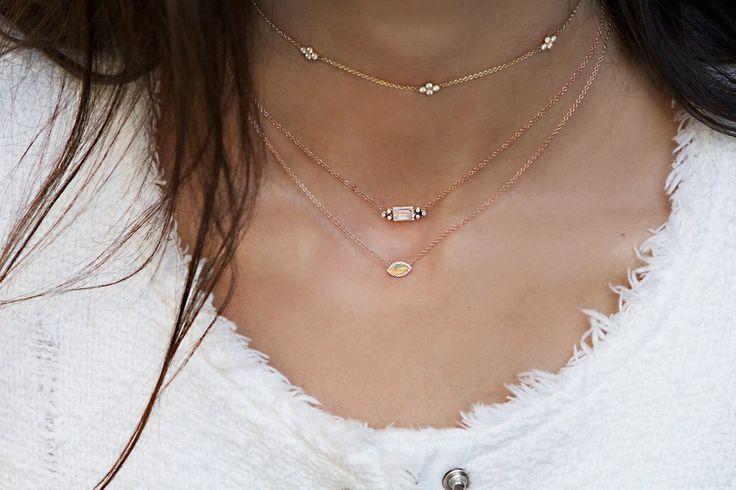 14kt gold and diamond blossom choker necklace – Luna Skye
