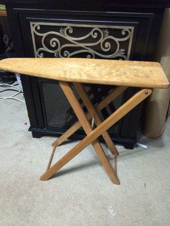 vintage 1950u0027s wooden ironing board by
