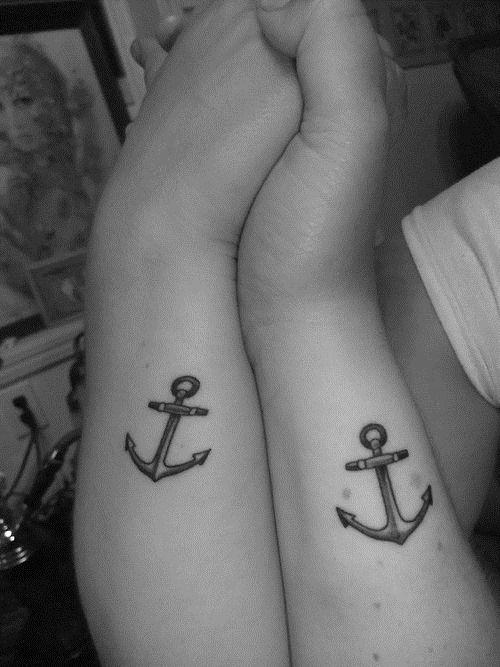 Matching Anchor Tattoo Idea