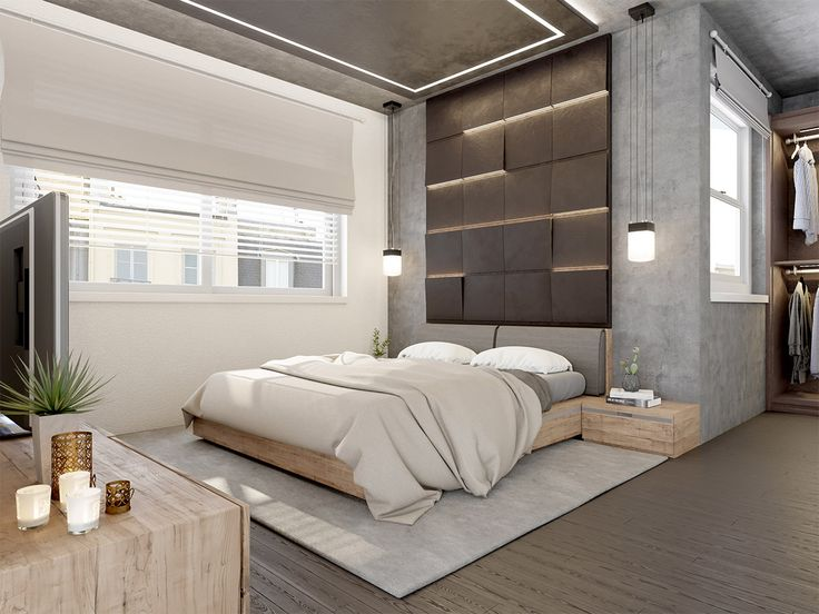 concrete wall designs 30 striking bedrooms that use concrete finish artfully - Room Design Modern