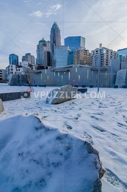 Winter in Charlotte North Carolina #city #landscape #winter #USA