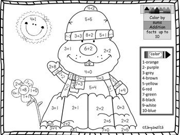 Groundhog Day Addition Sums to 10 Coloring Page
