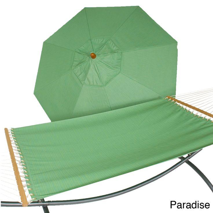 Phat Tommy Sunbrella Umbrella and Hammock Set