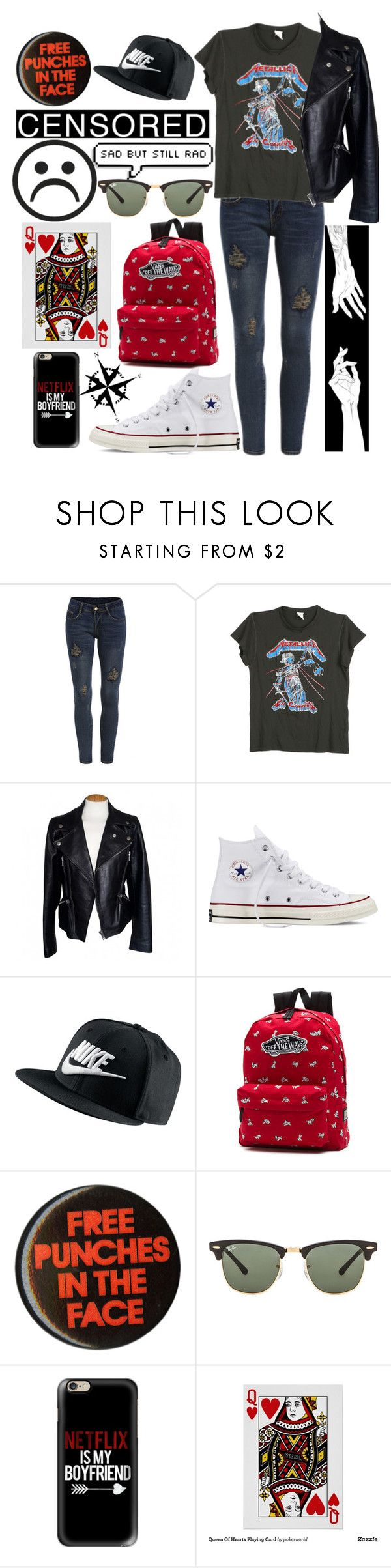 """""""this is the last smile that i'll fake"""" by tiffany-blanks ❤ liked on Polyvore featuring MadeWorn, Alexander McQueen, Converse, NIKE, Vans, Ray-Ban, Casetify and Dot & Bo"""