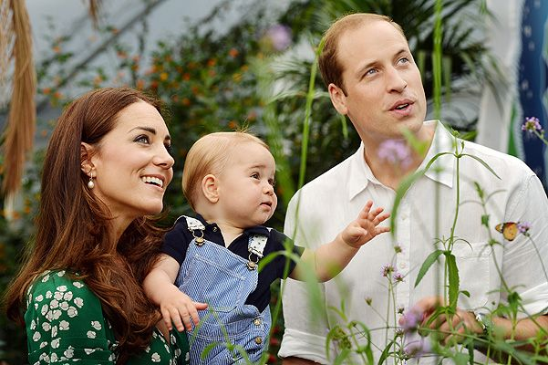 Кейт Миддлтон, принц Джордж и принц Уилльям