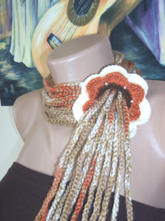 women's colourful stilish floral scarf by colourfulrose on Etsy, $23.50