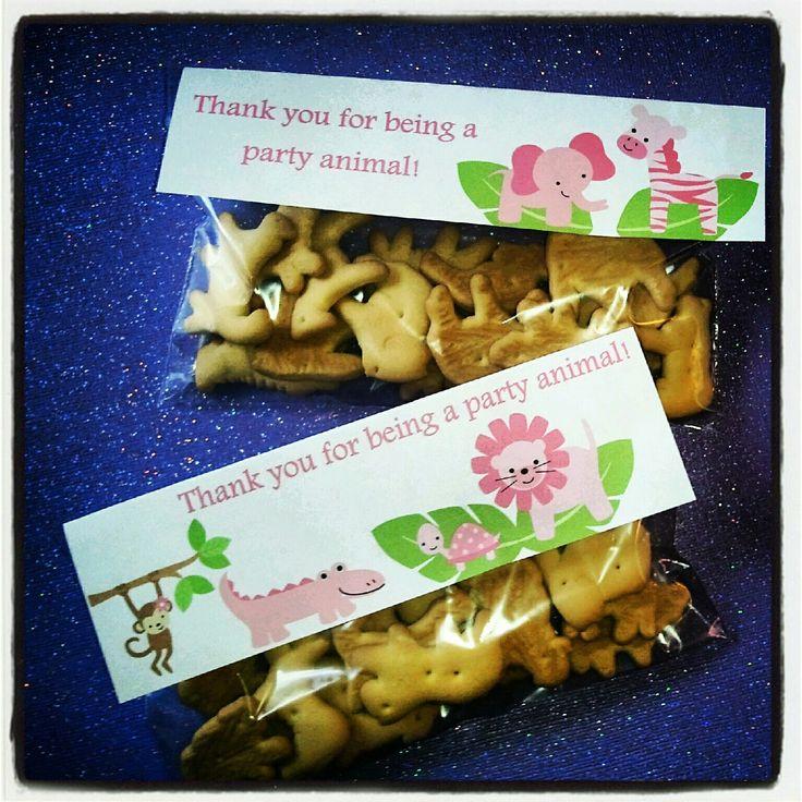Animal Cracker Favors