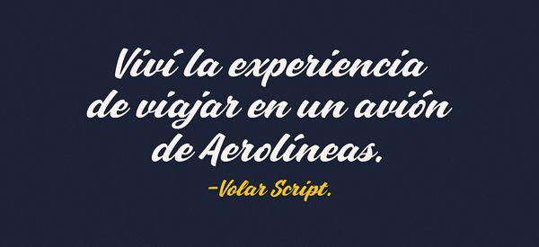 «Volar Guión» Tipo de letra / Aerolíneas Argentinas en Behance