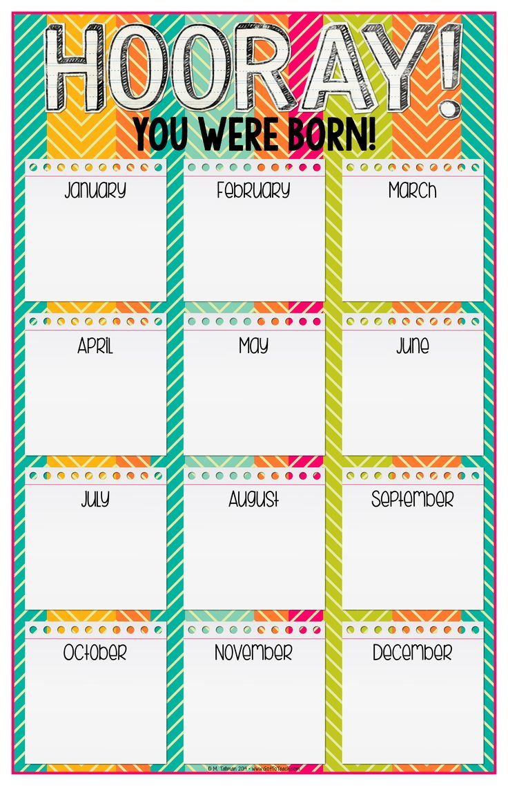 Birthday Calendar Ideas For Work : Best images about back to school on pinterest first