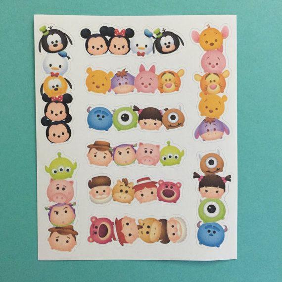 Tsum Tsum Inspired Mini Stickers Columns Amp Rows Set 1