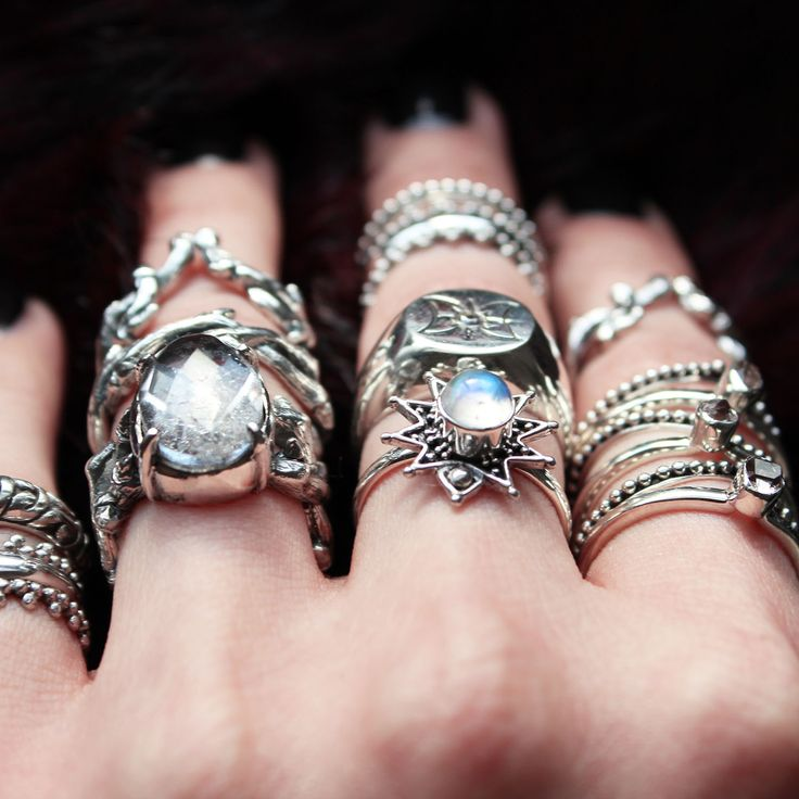 The Ice Queen's stack rules supreme, featuring beautiful Moonstone and Clear Quartz this is an enchanting stack. ✧✧ Shop the treasures from our Ice Queen's trove at www.shopdixi.com ✧✧ // shopdixi // icequeen // shop dixi // boho // bohemian // winter // ice // hippie // jewellery // jewelry // giftideas // bohochic // winter // ice // snow // moonstone