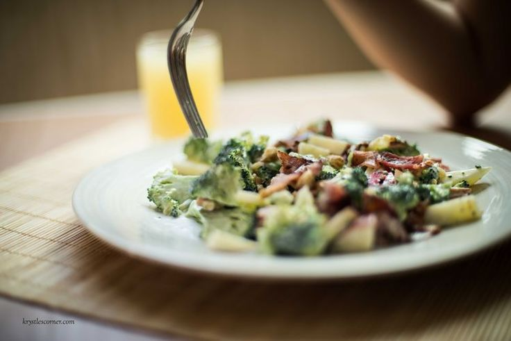 Broccoli and Bacon Salad  Blog — Krystle's Corner