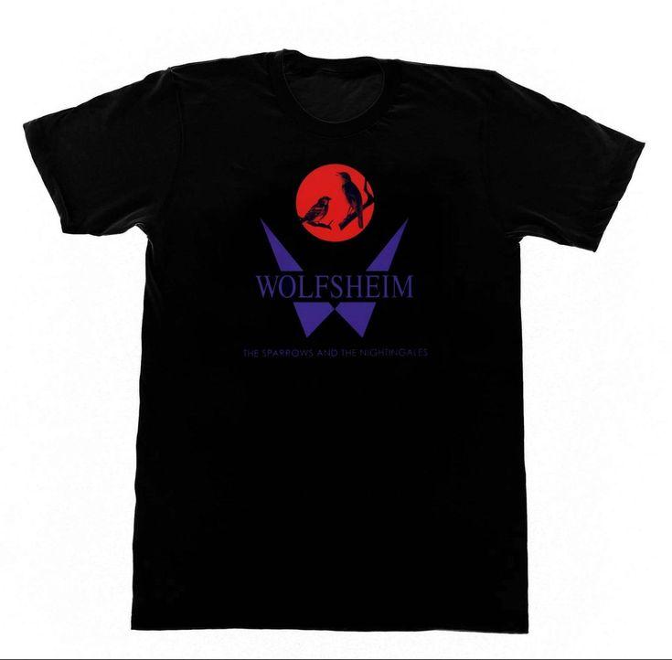 WOLFSHEIM Sparrows & Nightengales T SHIRT 08 T-Shirt Darkwave Techno Synthpop EDM 2017 Fashion Short Sleeve Black T Shirt