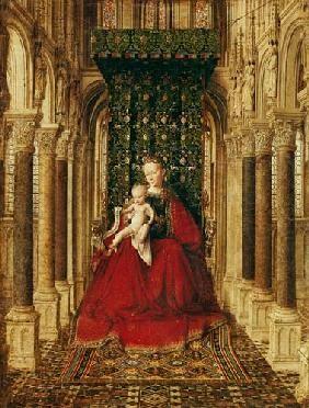 Jan van Eyck - Madonna con niño (Panel medio del altar)