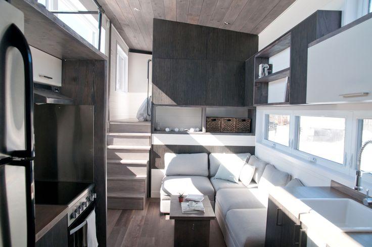 "Sakura - 420 squarefeet 10,5′ x 32′. The Sakura has a bedroom with an optimal height of 6'3 "", a reading loft with abundant windows."