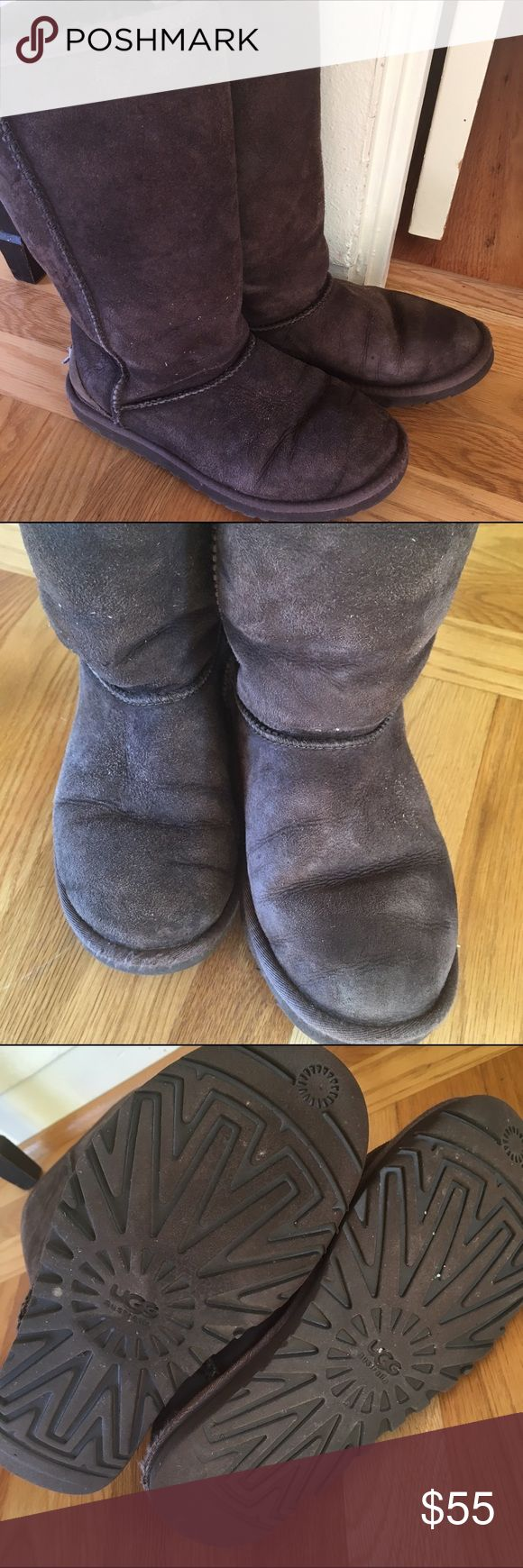 CLEARANCE!! Classic Uggs In used condition but still so much life left. The soles have over 75% tread left. These did great in the snow! They are men's size 5 which is a women's size 7/7.5. (I am a 7/7.5 and these fit great even with thick socks.) UGG Shoes Winter & Rain Boots