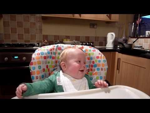 Baby's laugh sounds like Donald Duck! | 9 Ridiculously Cute Videos Of Babies Laughing