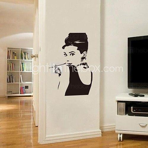 JiuBai™ Audrey Hepburn Wall Sticker Wall Decal Part 70