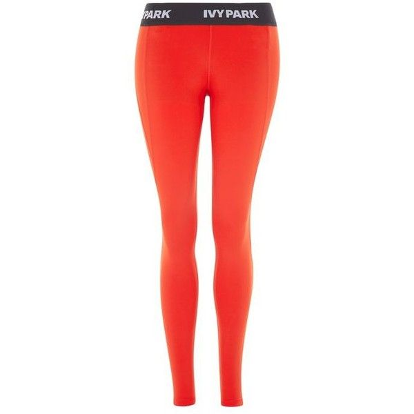 High Rise Ankle Leggings by Ivy Park (205 BRL) ❤ liked on Polyvore featuring pants, leggings, topshop leggings, high-rise leggings, elastic waist pants, high rise pants and legging pants