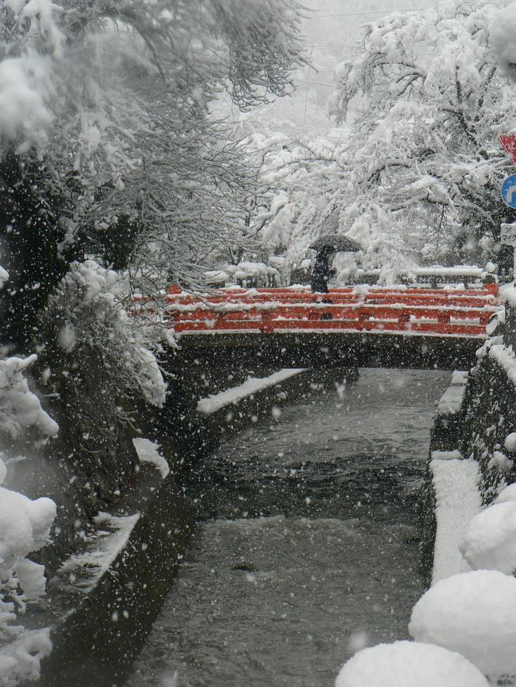 Takayama in Winter.Gifu. Japan.