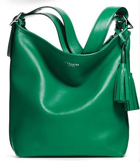 LOVE this green purse