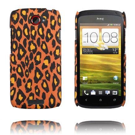 Leopard Fashion (Mørk Oransje) HTC One S Deksel