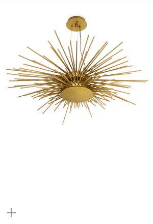 SOLEIL Suspension Light, New lighting design piece, #BRABBU, hammered brass | See more at http://brabbu.com/en/lighting/soleil-suspension-light/