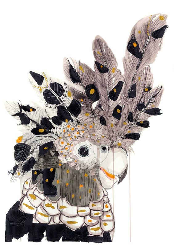 If birds could do anything they like with their plumage Spirit Bird is exactly what would happen. Earthy tones highlighted with the colours of Australia. A beautiful bird for a beautiful space in your home.