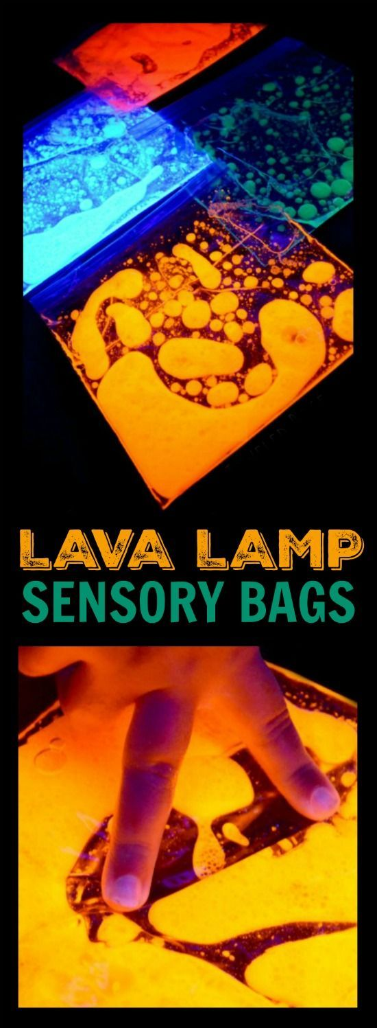 LAVA LAMP SENSORY BAGS- these are SO NEAT!  We couldn't put them down!