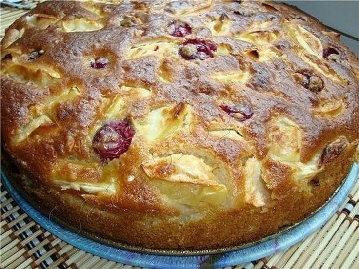 Шарлотка яблочная с вишней 4-5 яблок 180 грамм сахара 1 стакан (250грамм) кефира 0,5 чайной ложки соды 2 яйца ваниль мука 1,5 стакана ()  Яйца взбить с ... - Зеленоглазая - Львица - Google+