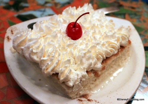 Tres Leches Cake at Bongos Cuban Cafe in Disney World's Downtown #Disney #DisneyFood #WDW