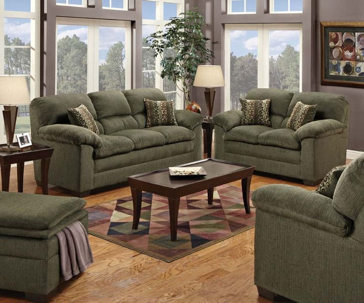 Radar Forest Sofa U0026 Loveseat: Not Sure If I Like This Exact Color Of Green?  Find This Pin And More On Jarons Living Room Sets ...