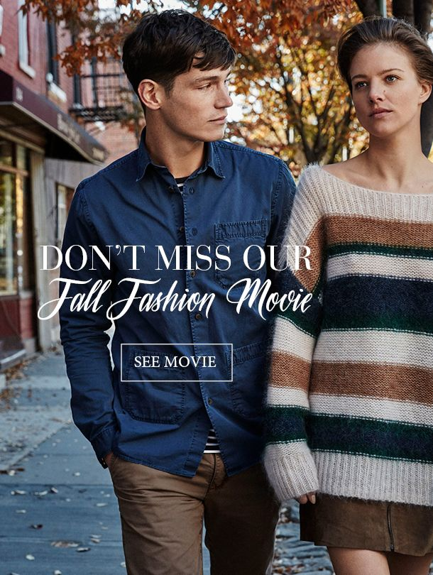Watch our fall fashion movie and get inspired.This season we focus on classic and trendy mixed together. Combining classic items such as the iconic oxford shirt and the cable knitted sweater with trend styles like a pair of cropped suede pants or a beautiful fake fur in coffee bean brown.