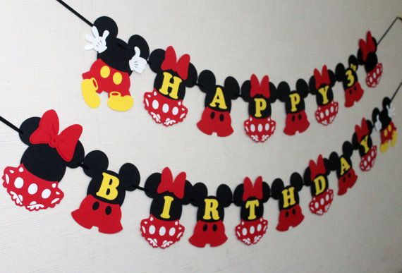 Mickey and Minnie Mouse birthday party by RaisinsPartySupplies