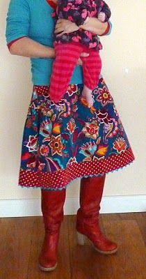 "my birthdayskirt 2010 one of my favorite skirts pattern ""valeska"" designer jolijou by farbenmix.de"