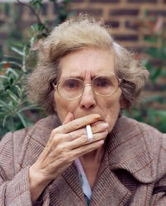 Mature people smoking