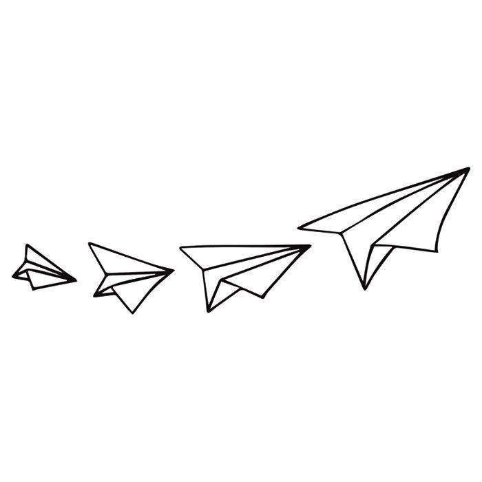 masking tape -  avions de papier
