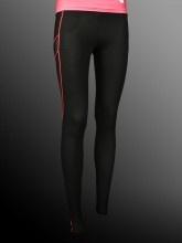 Ladies - Sportswear Pants - Nylon Lycra - Black with Pink Stripes - Joshua Perets - LS13-NS104-167