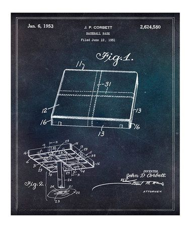 This Baseball Base 1951 Art Print is perfect! #zulilyfinds