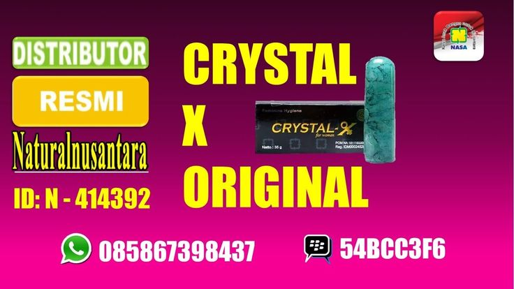 harga crystal-x produk nasa, produk crystal-x asli, harga crystal-x pt nasa