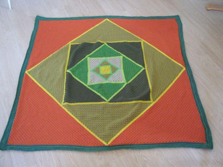Triangel to square, Cotten blanket, 150 x 150 cm my design
