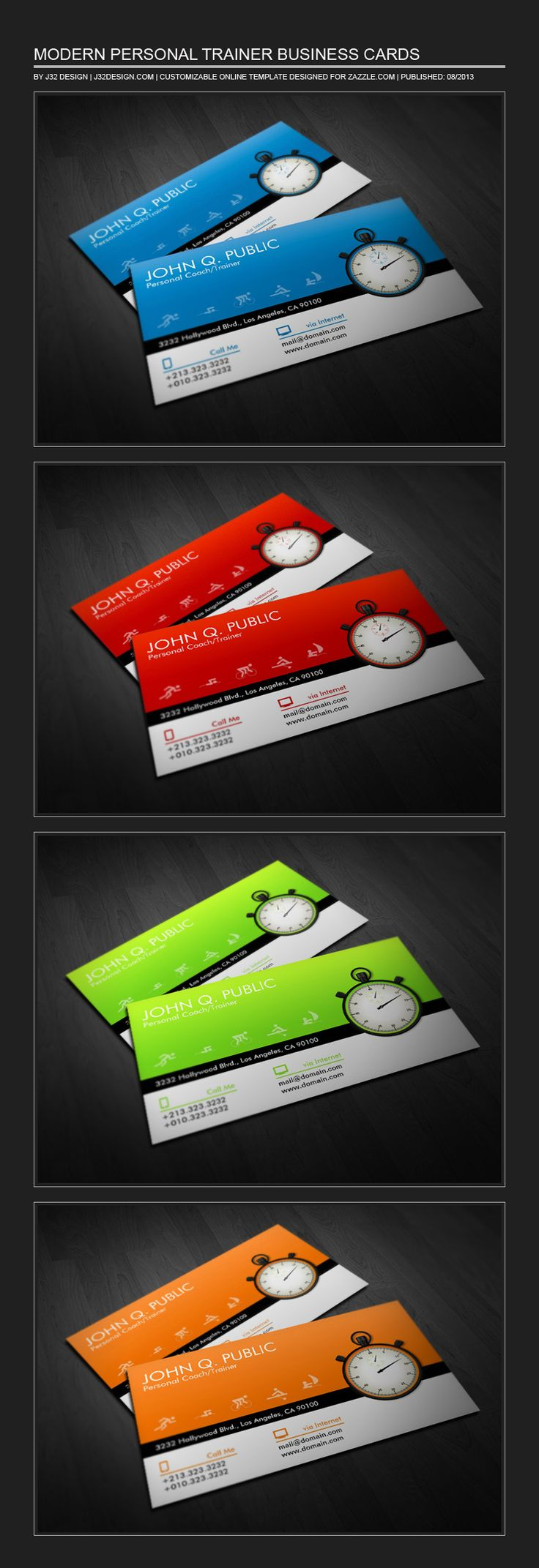 3023 best nice business cards on pinterest images on pinterest modern business cards for personal trainers and coaches colorful design showing sports icons and a stopwatch custom business card design ready for you to reheart Choice Image